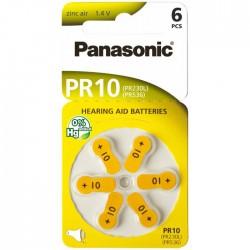 Baterie Panasonic 10 (PR536, PR230L) - do naslouchadel | 6 ks (blistr)