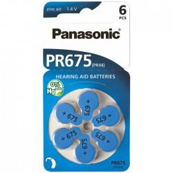 Baterie Panasonic 675 (PR44) - do naslouchadel | 6 ks (blistr)
