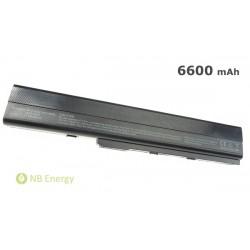 Batéria ASUS A42 A52 K52 A32-K52 | 6600 mAh (73 Wh), 11,1V
