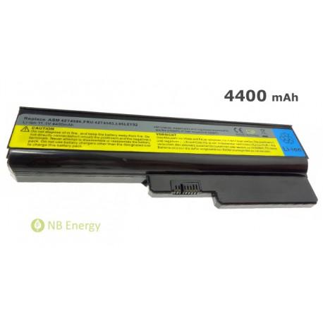 Batéria LENOVO IBM IdeaPad G450 G530 G550 N500   4400 mAh (49 Wh), 11,1V